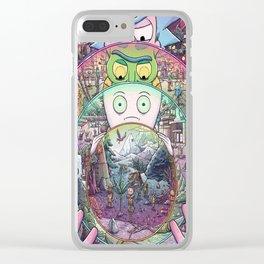 Rick's Mini-Verse Clear iPhone Case