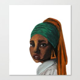 The Girl with the Doorknockers Canvas Print