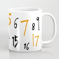 numbers Mugs featuring prime numbers by taichi_k