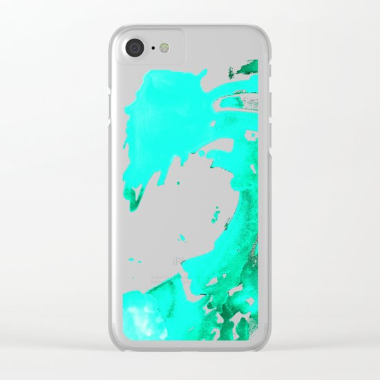 Aqua Aguas Aguas Clear iPhone Case