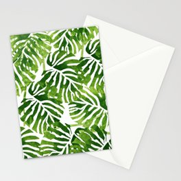 Tropical Leaves - Green Stationery Cards