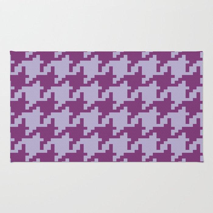 Houndstooth - Purple Rug