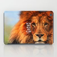 narnia iPad Cases featuring BOLD AS LIONS by Pocket Fuel