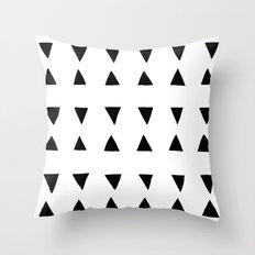 Almada - black on white Throw Pillow