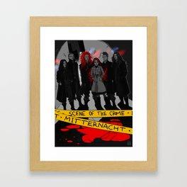 Mitternacht - THE SCENE OF THE CRIME Framed Art Print