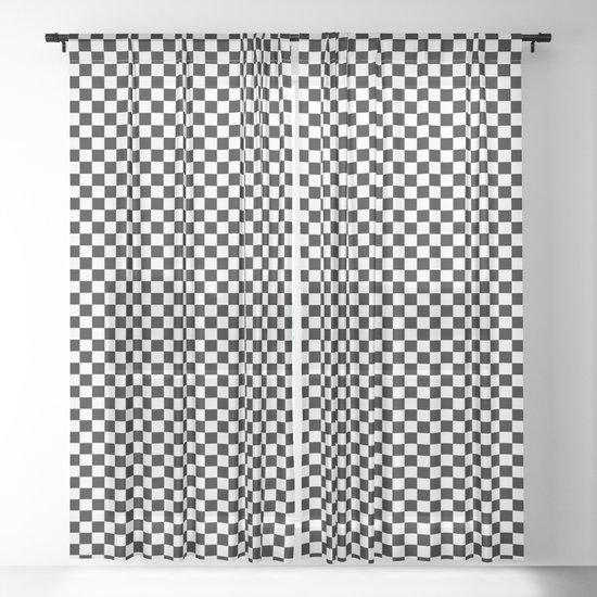 Classic Black and White Race Check Checkered Geometric Win by saburkitty
