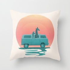Here comes the summer Throw Pillow