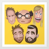 always sunny Art Prints featuring Always Sunny Cast by ivyt