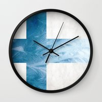 finland Wall Clocks featuring Finland by Fernando Vieira
