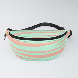 Sweet Life Soft Serve Peach Coral + Mint Meringue Fanny Pack