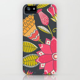 Poster Background | Floral Romantic Pattern iPhone Case