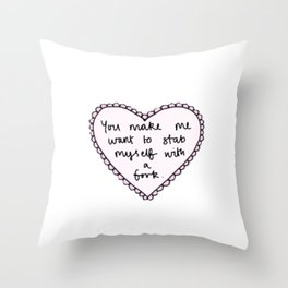 Stab with Love Throw Pillow