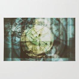 multi exposure clock Rug