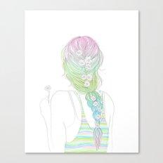 daisy braid Canvas Print
