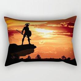 Spartan Warrior Cliff Rectangular Pillow