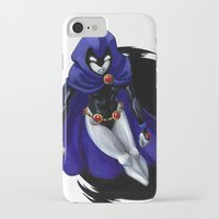 teen titans iPhone & iPod Cases featuring Teen Titans: Raven by JaDis