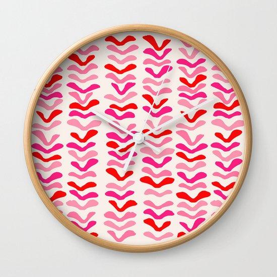 Rhythm Pink Wall Clock