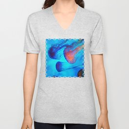 Watch the Flow of the Jelly Glow  Unisex V-Neck