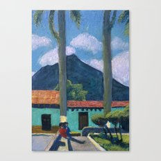 Antigua Park Bench Canvas Print