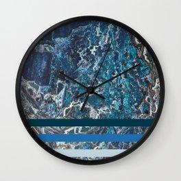 Deep Ocean Marble Wall Clock