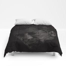 Johnny Cash Portrait Comforters