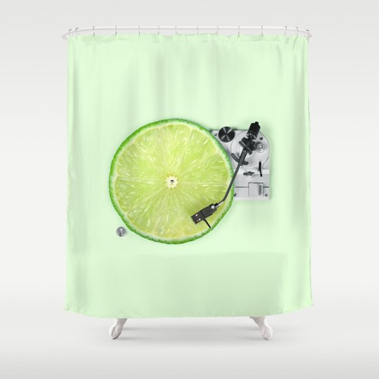 LIME DJ Shower Curtain by paulfuentes | Society6