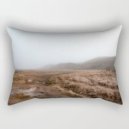 Photo of National Park the Slufter covered in fog IV | A journey around Wadden Island Texel Rectangular Pillow