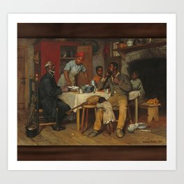 A Pastoral Visit, by Richard Norris Brooke, 1881 . An African American family Art Print