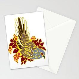 Diamond dove bird tribal tattoo Stationery Cards