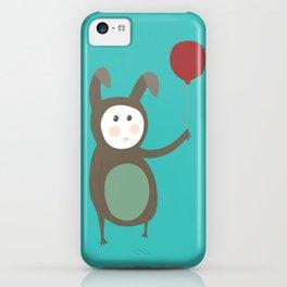 Bunny boy with a balloon iPhone Case