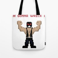 wreck it ralph Tote Bags featuring Bane's Gonna Wreck It by LegoBatman