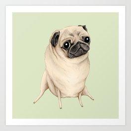 Sweet Fawn Pug Art Print