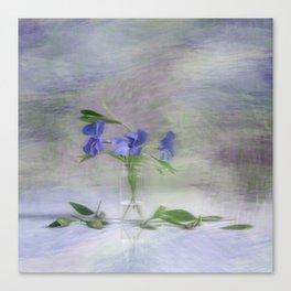 Periwinkle in vial Art Canvas Print