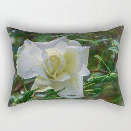 White rose Rectangular Pillow
