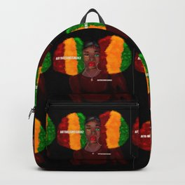 Red, Gold & Green Giant Afro Puffs Backpack