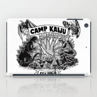 camp iPad Cases featuring Camp Kaiju by Austin James