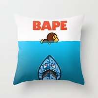 ape Throw Pillows featuring APE by Mike Nieuwstraten