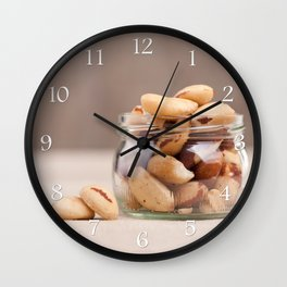 Brazil nuts from Bertholletia excelsa Wall Clock