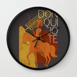Books Collection: Don Quixote Wall Clock