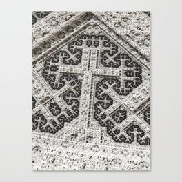 Headstone Cross Canvas Print