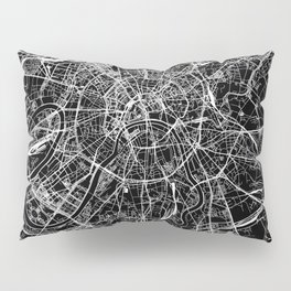 Moscow Black Map Pillow Sham