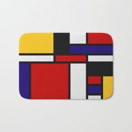 Mondrian De Stijl Art Movement Bath Mat