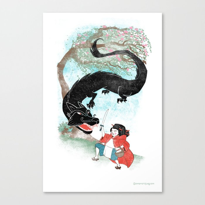Little Red-San Canvas Print