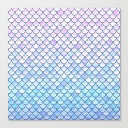 Lavender Mermaid Scales Canvas Print