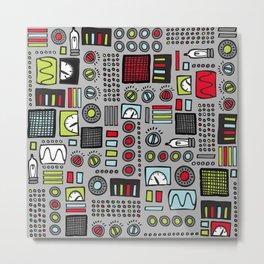 Robot Controls Metal Print