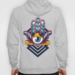 psychedelic hand eye Hoody