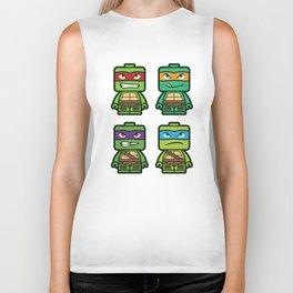 Chibi Ninja Turtles Biker Tank