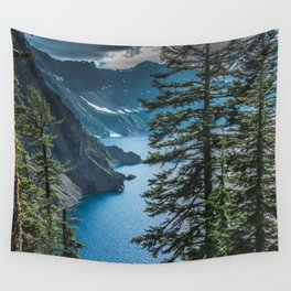 Blue Crater Lake Oregon in Summer Wall Tapestry