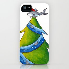 A Great White Christmas iPhone Case