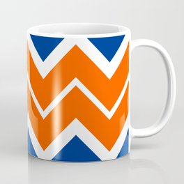 Big Chevron:  Blue + Orange Coffee Mug